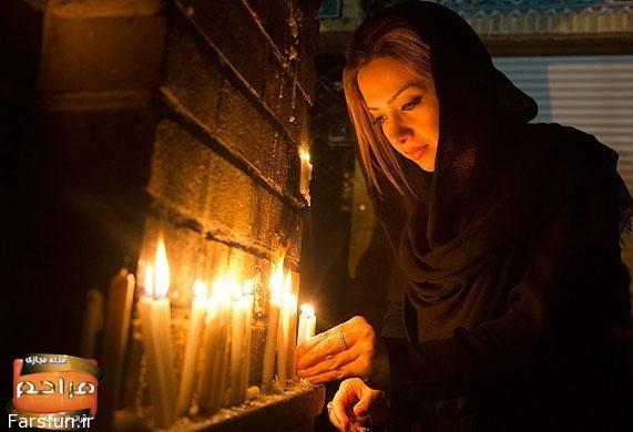 تصاویر شام غریبا,روشن کردن شمع در شام غریبان