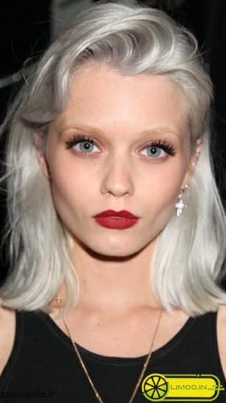 رنگ موی نقره ای یخی , عکس و مدل