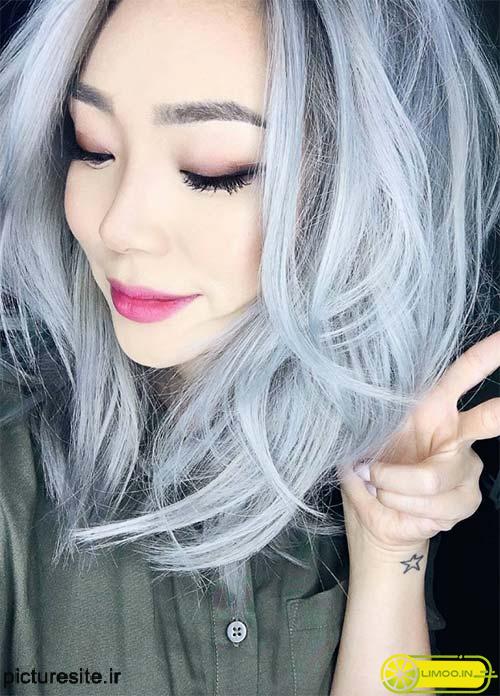 رنگ موی یخی روشن , عکس و مدل