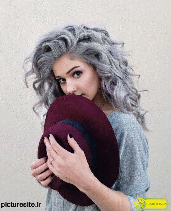مدل رنگ موی یخی تیره