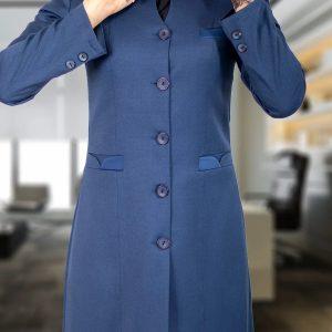 مدل مانتو اداری رنگ آبی