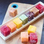 طرز تهیه یخ میوهای قالبی