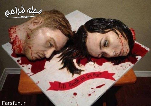 مدل کیک عروسی وحشتناک,مدل کیک عروسی سر بریده
