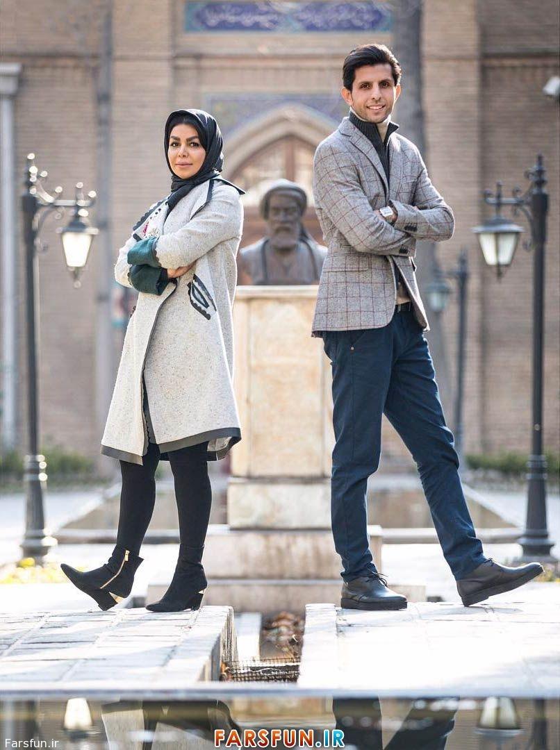 عکس وحید طالب لو و همسرش