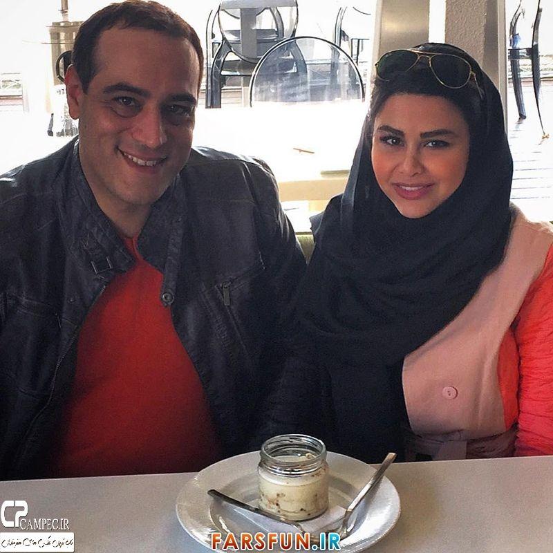 عکس جدید یاسمینا باهر با همسرش امیریل ارجمند