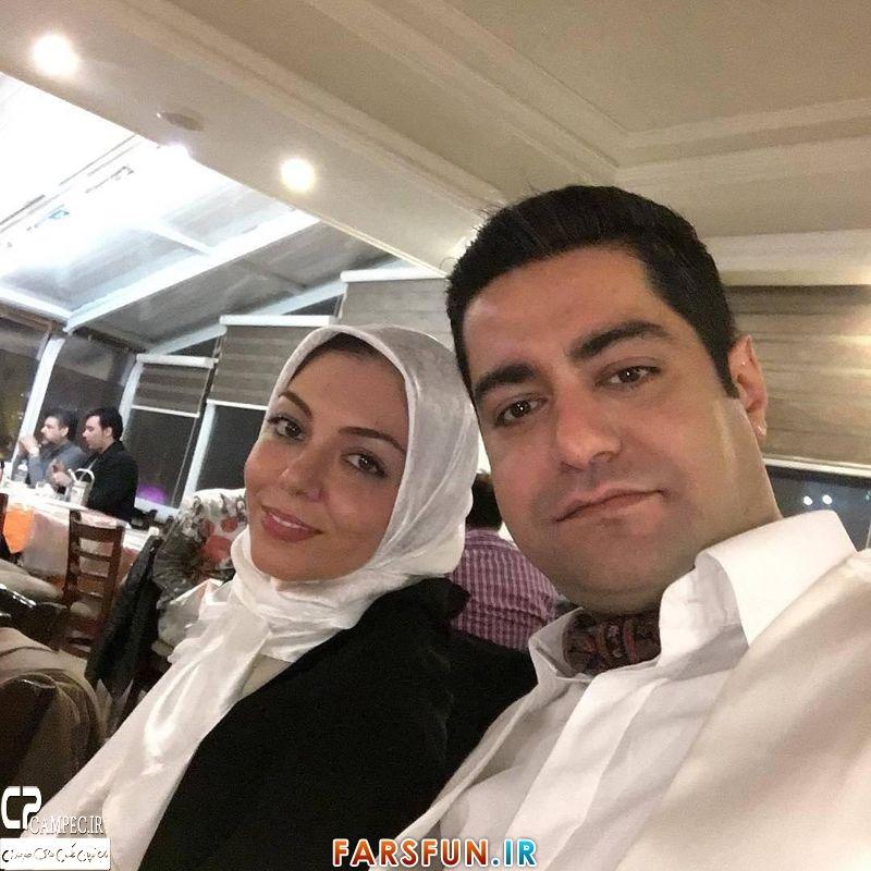 عکس جدید آزاده نامداری با همسر جدیدش