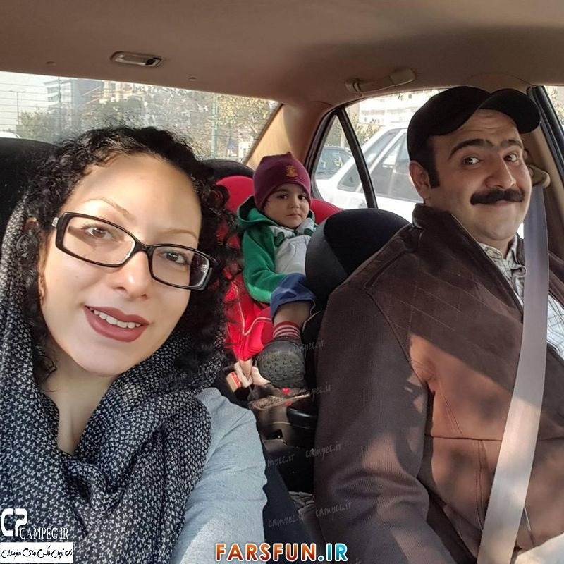 عکس جدید بهادر ملکی با همسر و پسرش