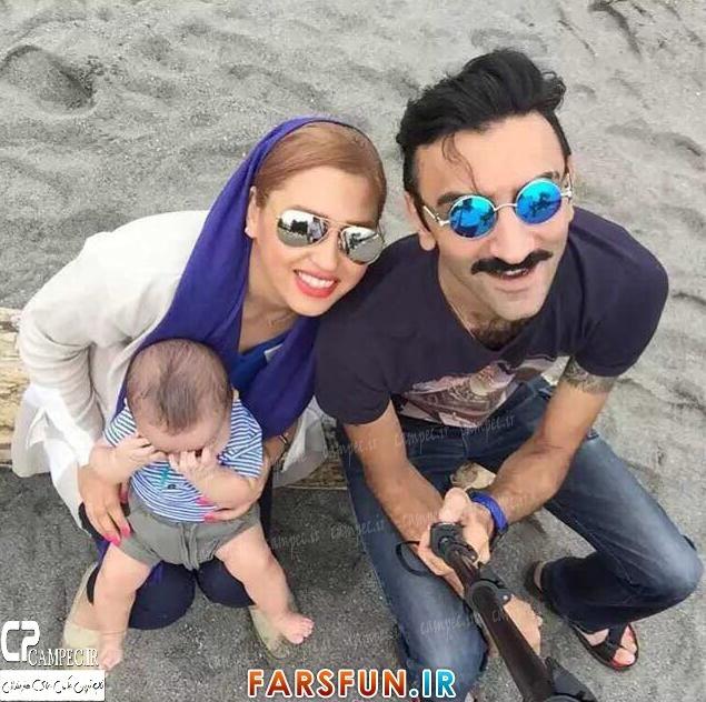 عکس جدید وحید میهن دوست با همسر و فرزندش