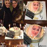کیک تولد جالب الهام حمیدی