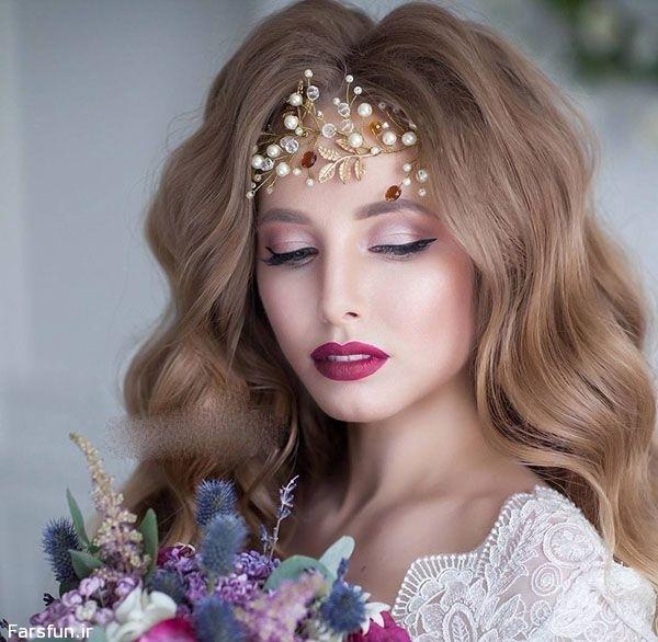 عکس هایی از مدل تاج عروس مطابق مد روز