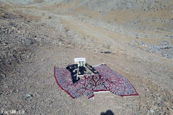 دفن میت در اراضی ملی برای تصرف غیرقانونی +عکس
