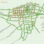 ترافیک سنگین در معابر پایتخت +نقشه