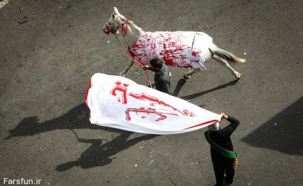 تصاویر آتش زدن خیمه ها روز عاشورا در تهران