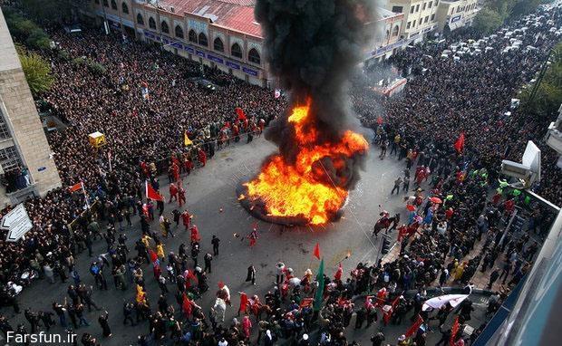 تصاویر آتش زدن خیمه ها روز عاشورا,خیمه سوزی در عاشورا