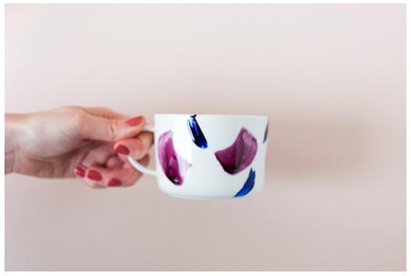 طراحی لیوان ساده,نحوه تزیین لیوان ساده