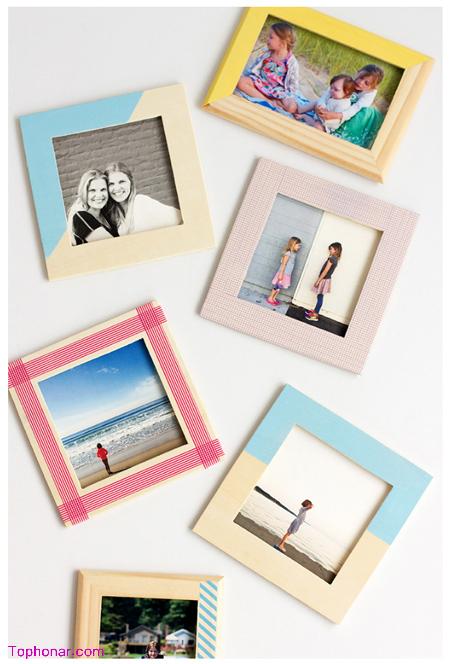 آموزش تزیین قاب عکس های ساده, نحوه تزیین قاب عکس های چوبی ساده