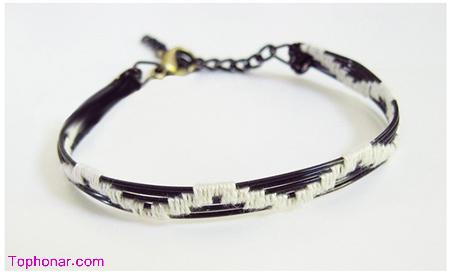 درست کردن دستبند با سیم,آموزش تصویری ساخت دستبند