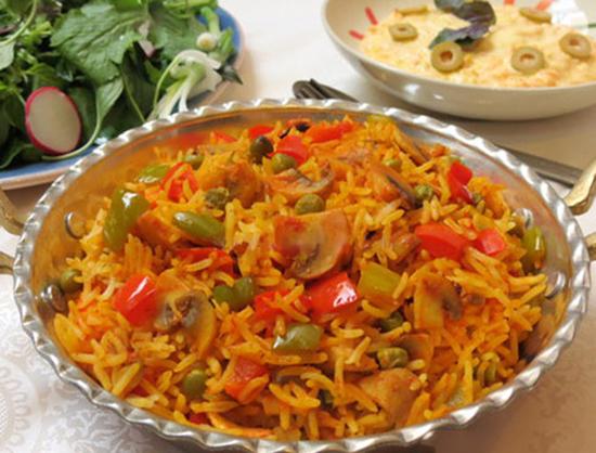 طرز تهیه پلوی سبزیجات