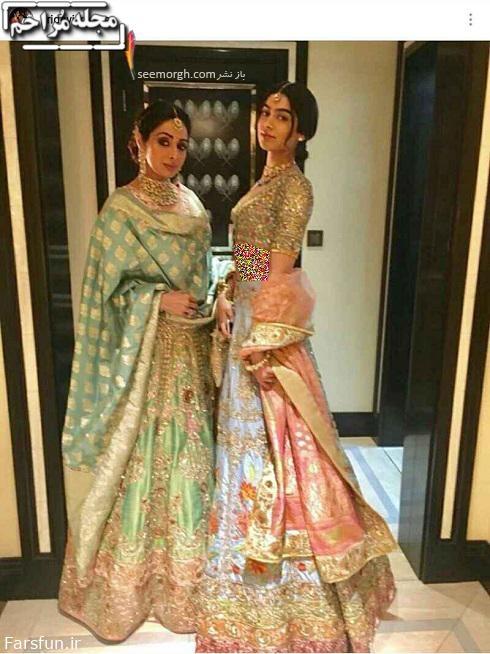 سری دیوی و دخترش,تصاویر جدید سری دیوی در عروسی