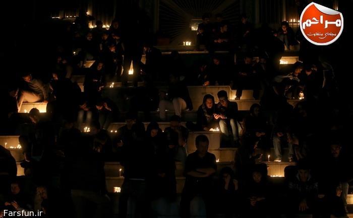 عکس های شام غریبان,روشن کردن شمع در شام غریبان